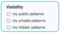 Visibility checkboxes