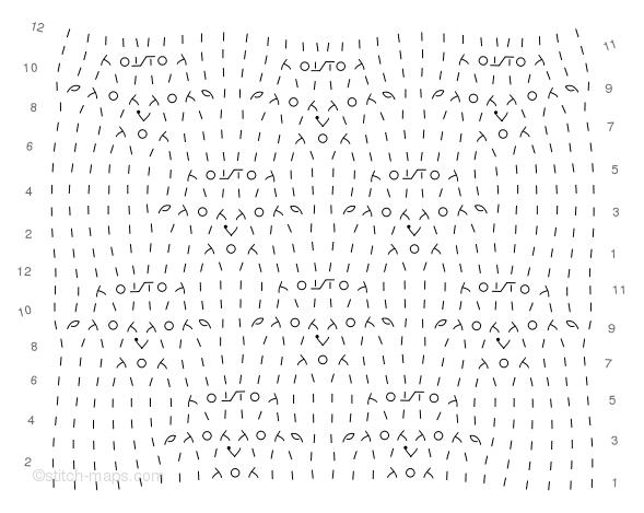 Buttercup motif chart