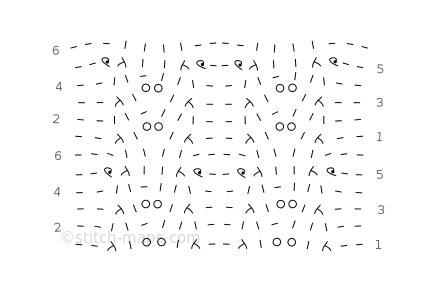 lace beading chart