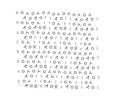 Bead Curtains variation 1 chart