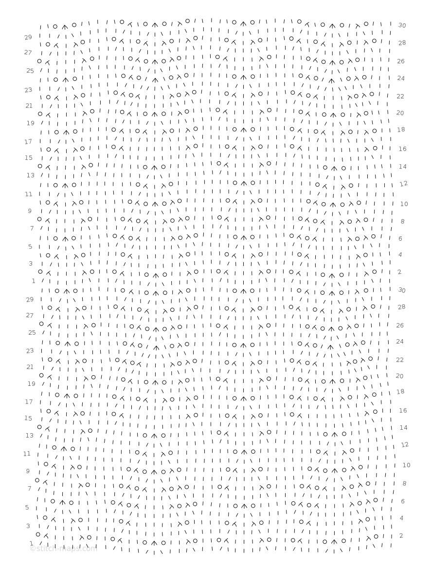Arrowhead Lace combination 4 chart