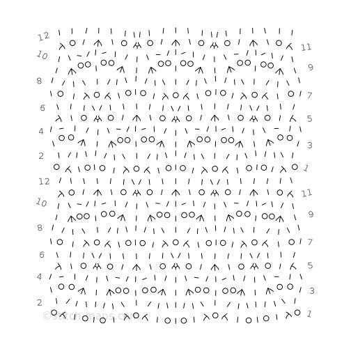Doodle lace chart