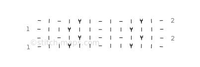 Slip stitch fabric 10 chart