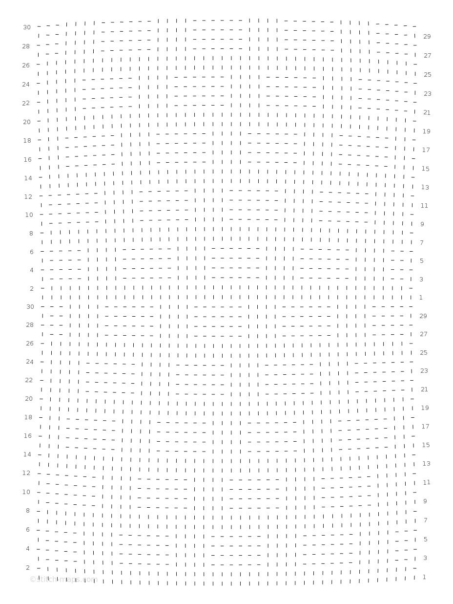 Falsches Zopfmuster chart