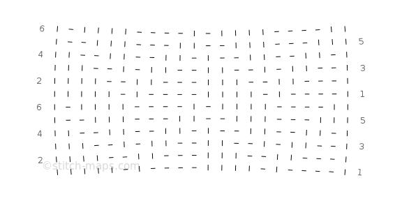 Mock Cable Stitch chart
