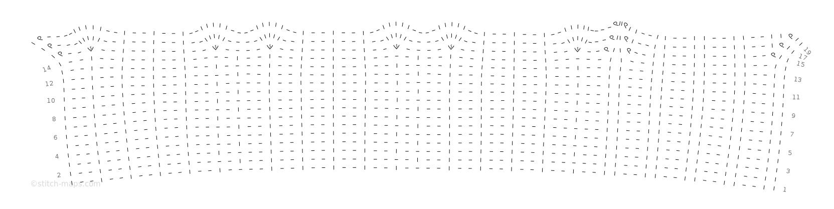 Dog cardigan chart