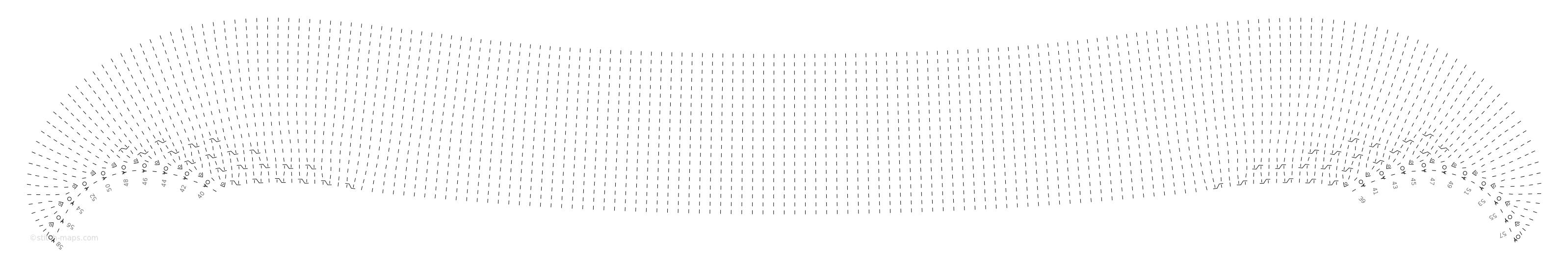 Crescent Shawl (body 2) chart