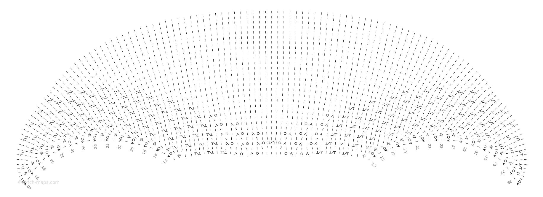 Crescent Shawl (body) chart