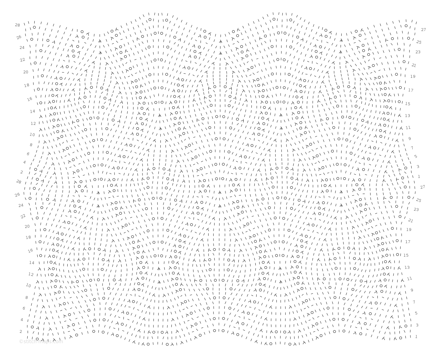 Ogee Lace Rib chart