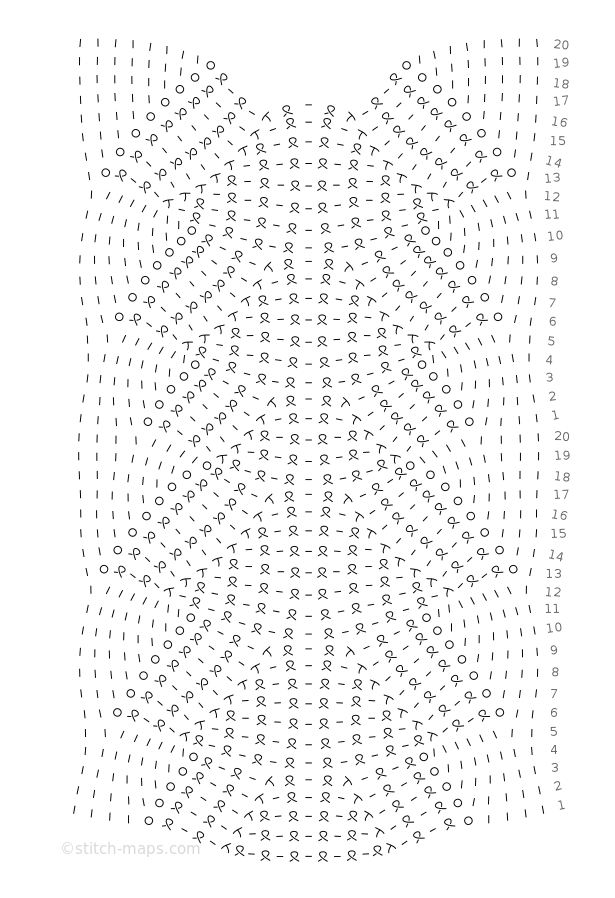central lace motif for tops chart