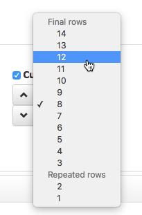 row number menu