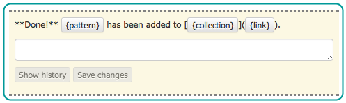 screenshot of message with markdown