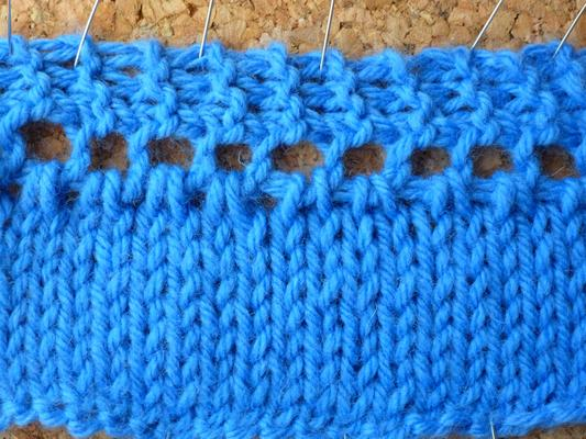 A different way of knitting an edging on swatch photo