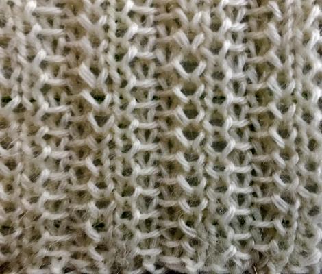 Slip stitch columns swatch photo