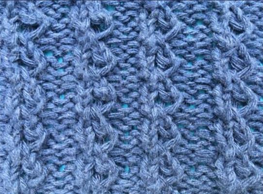 Little hour glass ribbing swatch photo