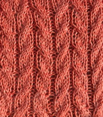 st. st. cables swatch photo