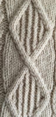 Aran panel - filled diamonds swatch photo