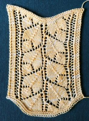 Lacis Knitted Lace exhibit, slide #106 swatch photo
